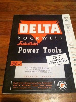 Delta Rockwell Industrial Power Tools 1955 Catalog with pricelist