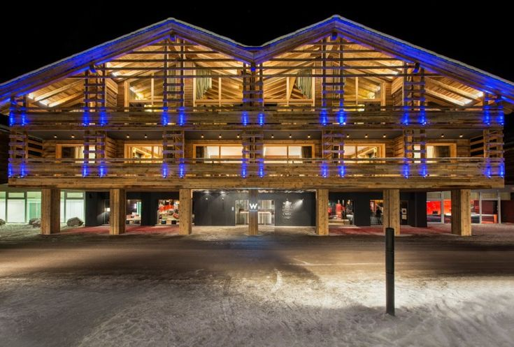 W Hotel have opened their first alpine and ski location in Verbier, Switzerland with the interiors designed by Concrete Architectural Associates.