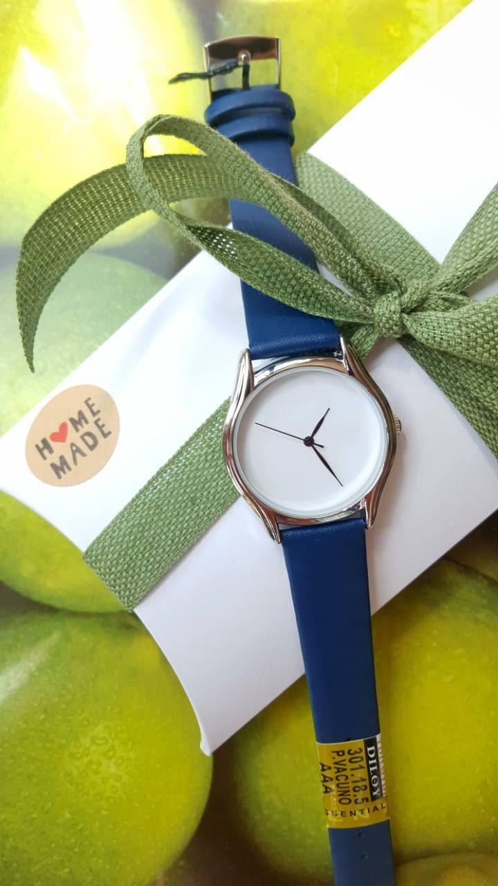 Minimalist Blue Watch with White Dial, Unique Fashion Watch, Women's Jewellery, Handmade Watch, Girlfriend Gift, Romantic Gift. by IrishFashionWatches on Etsy