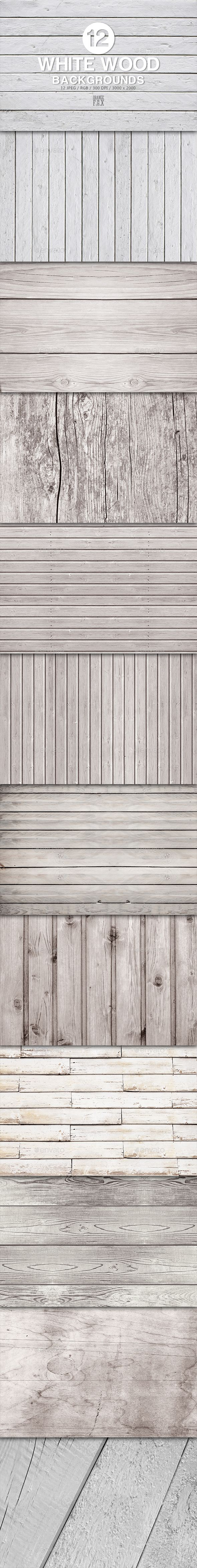 12 White Wood Backgrounds — Photoshop PSD #desk #white • Available here → https://graphicriver.net/item/12-white-wood-backgrounds/13318887?ref=pxcr