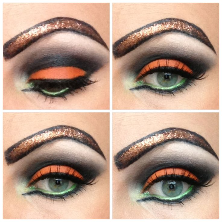 Pumpkin Inspired Halloween Makeup