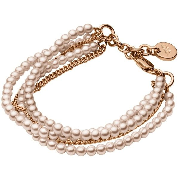 Dyrberg/Kern Magali Brass Bead Bracelet (305 DKK) ❤ liked on Polyvore featuring jewelry, bracelets, rose gold, dyrberg kern bracelet, evening jewelry, dyrberg kern jewelry, bracelet bangle and metallic jewelry