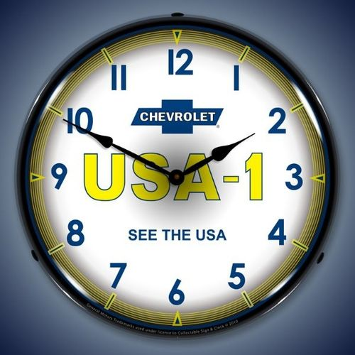 Chevrolet USA-1 Backlit Clock