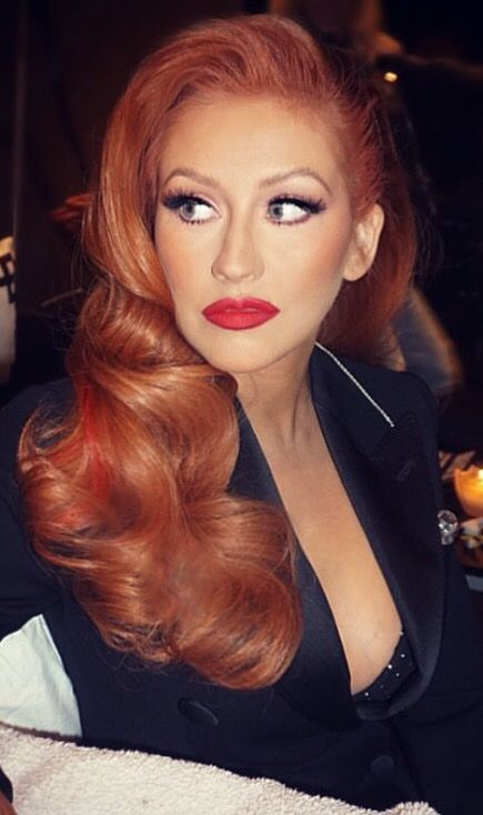 Christina Aguilera's new red hair