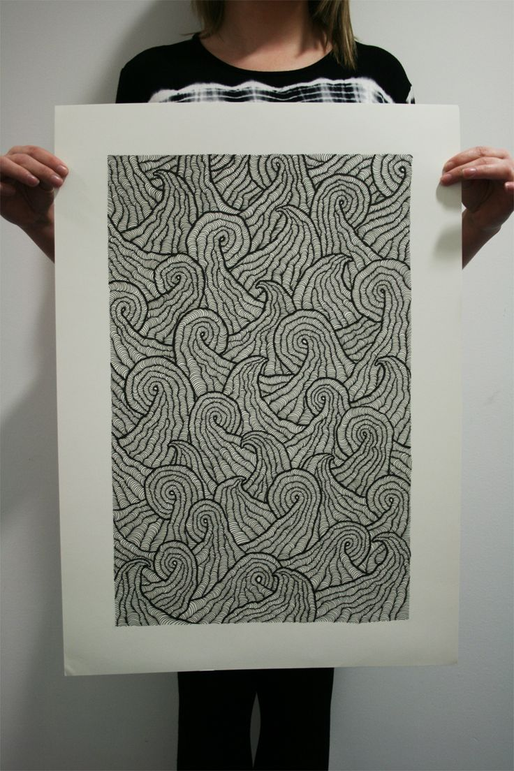 an adaptation of my original hand drawn pattern to produce a wave effect, this also took me ages...
