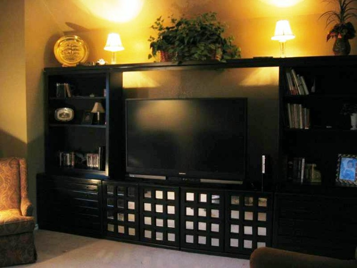entertainment center diy i used my old bedroom furniture as the base