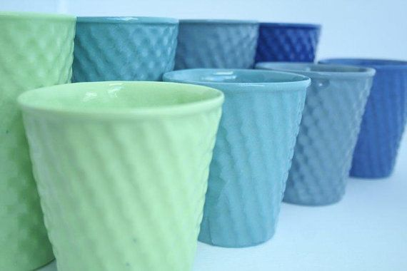 Porcelain Cushion Beaker In Lemon with Free Shipping by MadHarriet