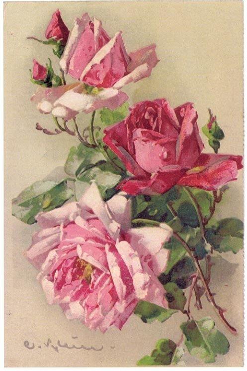Розовые розы для шебби-шика. | Творческая мастерская Марины Трублиной
