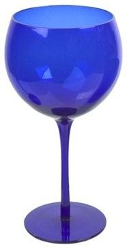 Balloon Glass, Midnight Cobalt - modern - cups and glassware - Target