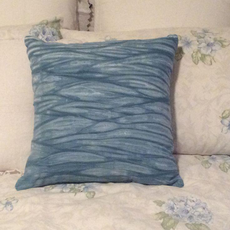 Indigo Dyed Cushion for my Etsy shop