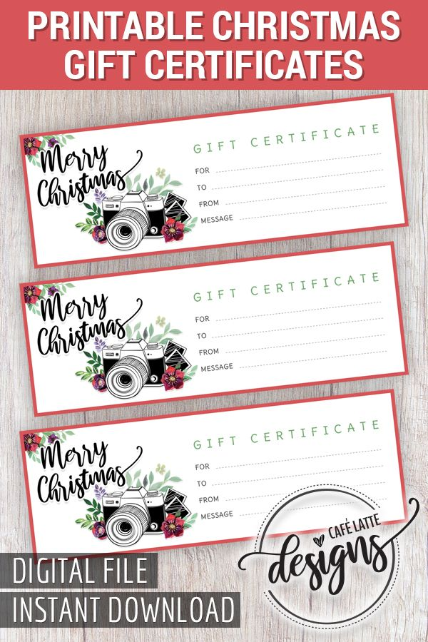 Christmas Gift Certificate Gift Certificate Printable Photo Session Gift Certificate Instant Download Diy Gift Printable Photo Gift Holiday Gift Certificates Photography Gift Certificate Template Gift Certificate Template