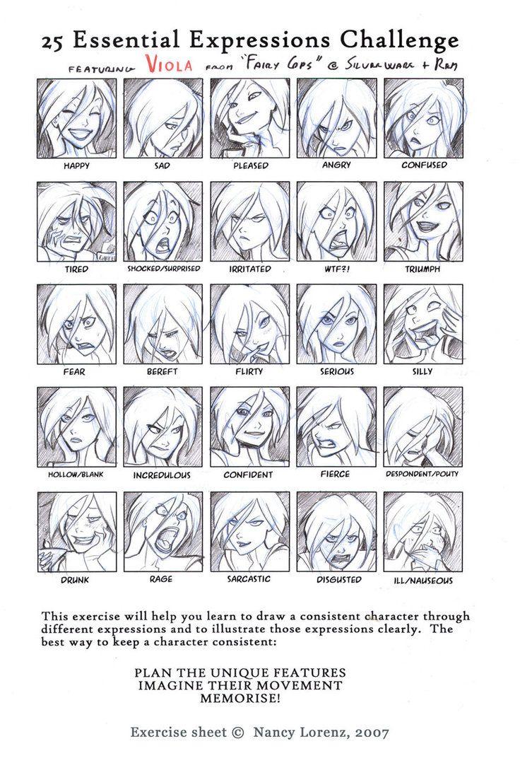 deviantART: More Like 25 Expressions Challenge by solitarium
