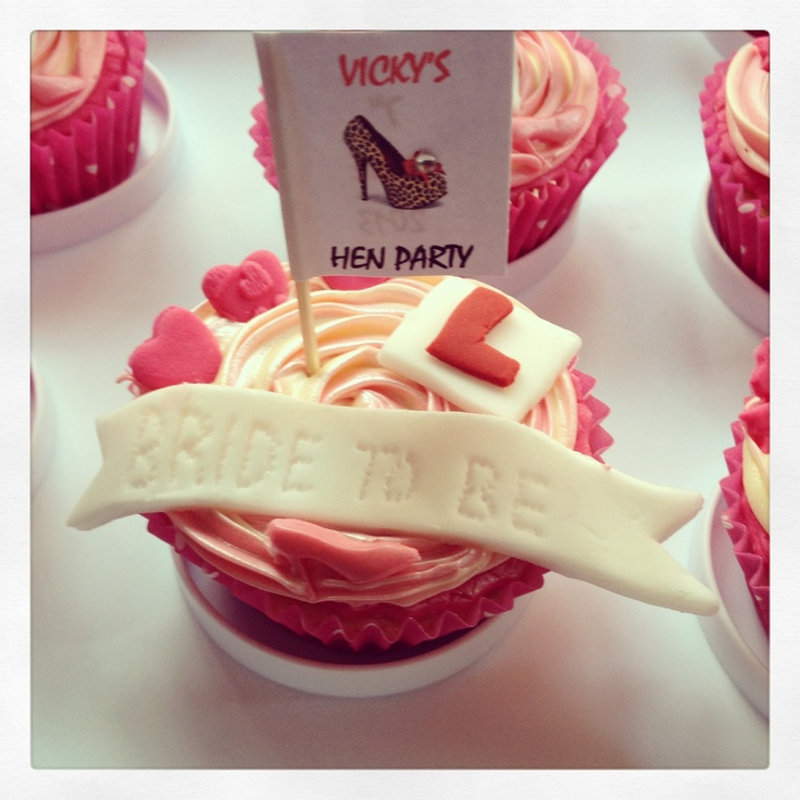 Hen party cupcakes - see if Shelley can help!