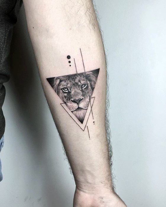 Triangle Lion Forearm Small Detailed Guy Tattoos # detailed … – neutattoomodelle.top – # detailed # TriangleLowlContent …