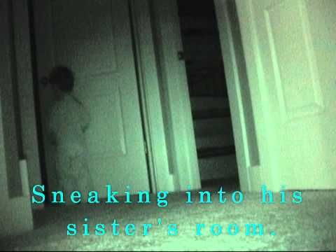 Sister sneaks into brothers room