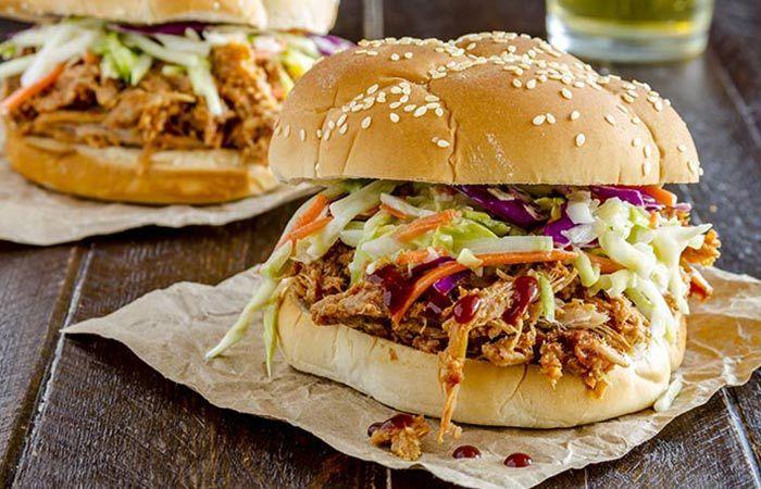 Almuerzo bajo en calorías - Sandwich de pollo flaco