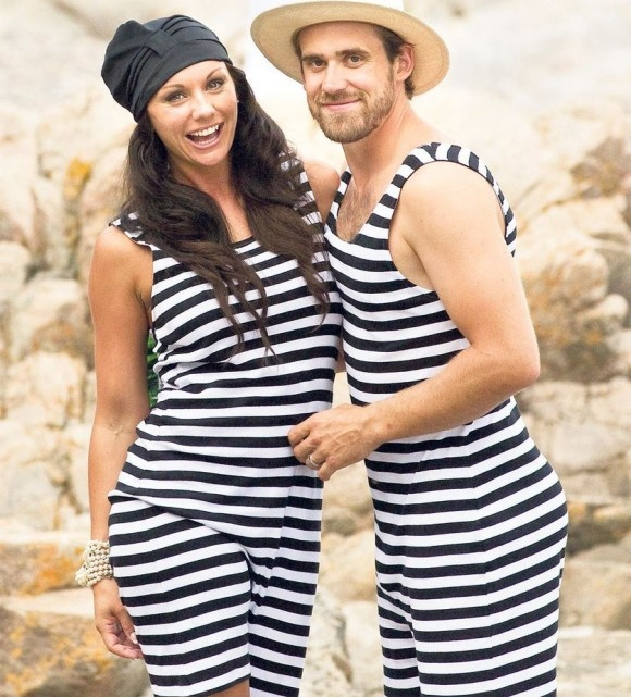 Henrik Zetterberg and his wife Emma Andersson. Hilarious Sweden swimsuit wedding photos. Such cool people.