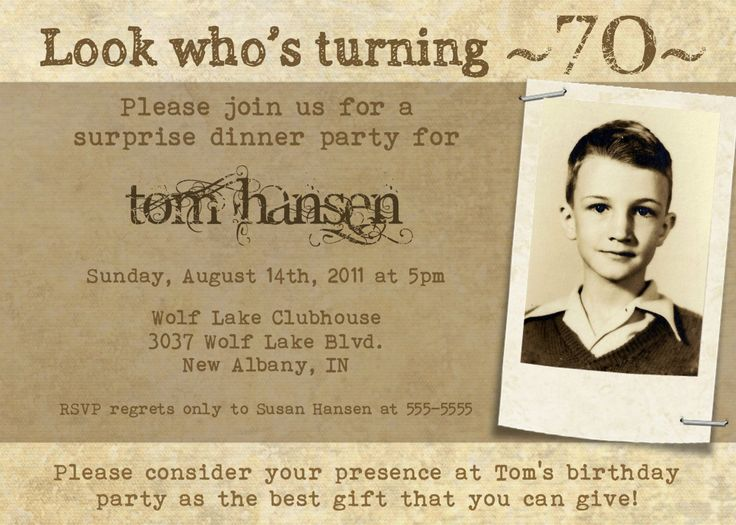 Milestone Birthday Invitation for Adults or Teens -- 5x7 Digital File -- Print It Yourself. $15.00, via Etsy.
