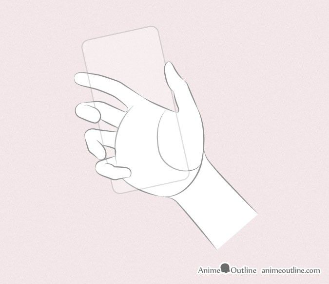Hand Holding Phone Drawing Anime Hands Anime Hands Hand Holding Something
