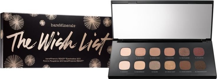 Bare Minerals  Holiday 2016 The Wish List Ready Eyeshadow 12.0 $45