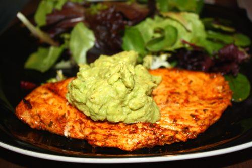 Spicy, citrus-y chicken with guacamole! So easy to make!
