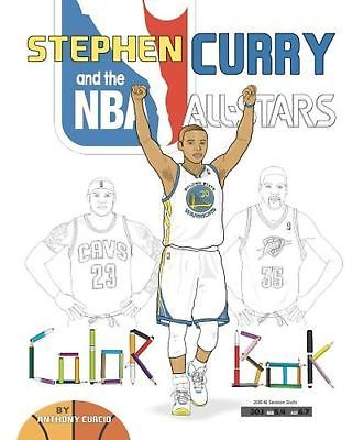 Stephen Curry And The Nba All Stars Basketball Coloring Book For