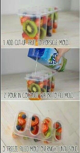 Coconut water/fruit popsicle