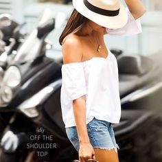 Robe et Top Bardot : la tendance de l'été