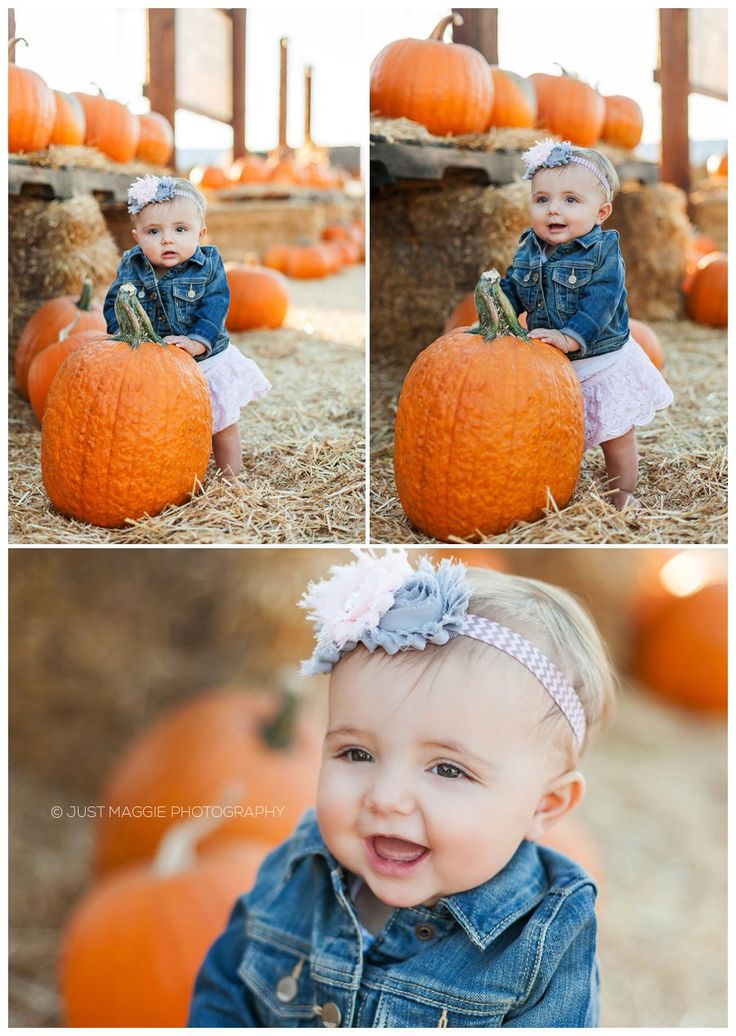 Pumpkin patch baby photography by Just Maggie Photography -- Los Angeles Family Photographer