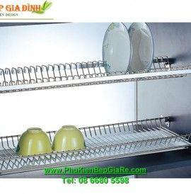 Phụ kiện bếp giá rẻ  – Kệ Úp Chén Đĩa Âm Tủ CWJ235D