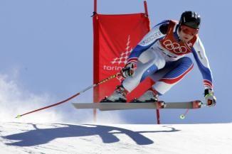 2006 : Antoine Dénériaz s'impose lors de la Descente Olympique