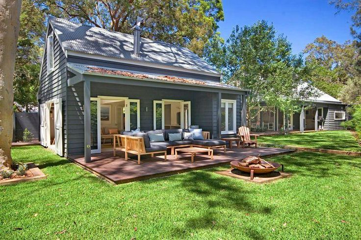 Weatherboard house  Fire pit