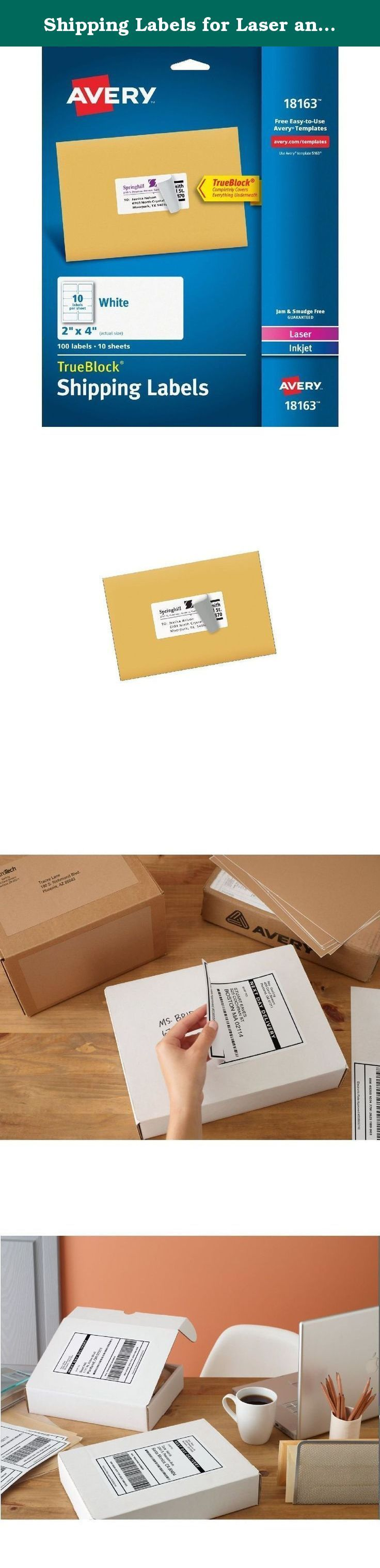 Shipping Labels for Laser and Inkjet Printers White 2 x 4 Inches 100/Pack. Compatible with the Avery Quick Peel Automatic Label Peeler (available separately) so you can peel and apply labels up to two times faster than by handUse white shipping labels for all your shipping and mailing needsCustomize with free tools software and templates from avery.comSave time shipping products with Avery shipping labelsUse white shipping labels for all your shipping and mailing needsCustomize with free...