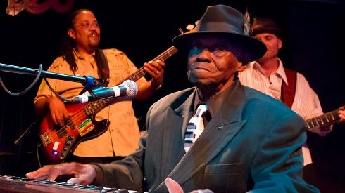 """Mar. 21: One of the last two original Mississippi Delta blues musicians, and a personal friend of Robert Johnson, """"Pinetop"""" Perkins died on this day in 2011"""