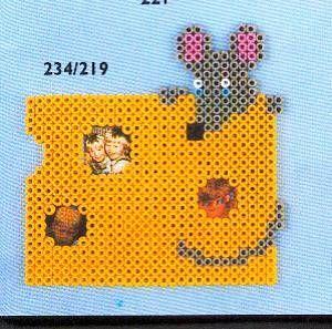 Mouse frame Hama perler pattern