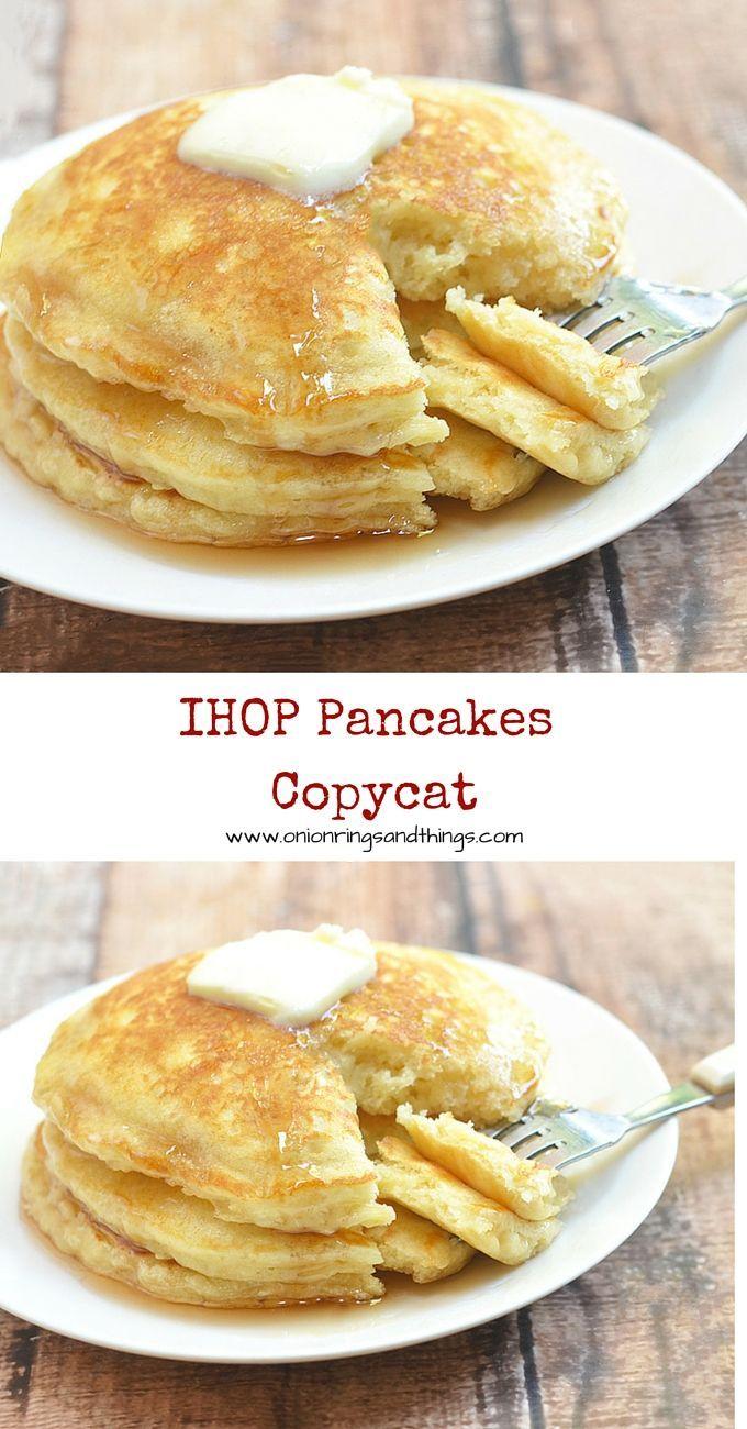 Plump and pillowy, these IHOP pancakes copycat are just as tasty and delicious as what you'd find in the restaurant yet cost a fraction of the price. The recipe can easily to doubled to feed a large crowd or large appetites. #buttermilkpancakesrecipedinners