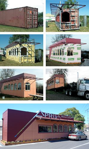 Aprisa Mexican - Portland, OR, - Shipping Container Restaurant