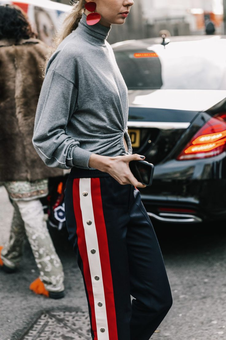 Spring 2017 Street Style Trend, Editorial Eclectic Style - Designer Track Pants