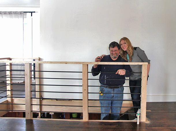 Rebar DIY Stair Railing Projects & Makeovers | Decorating Your Small Space
