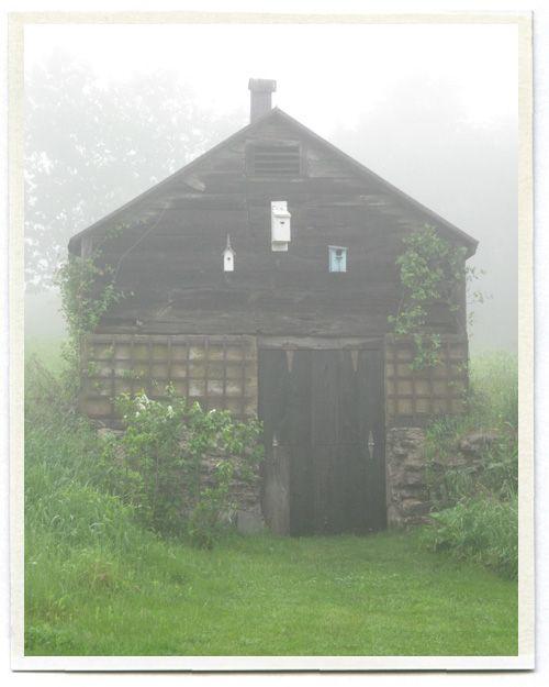 barn: Fog Mists, Birds Houses, Foggy Mornings, Misty Fog, Foggy Landscape, Fog Fantasy, Foggy Photography, Houses Barns, Wood Stove