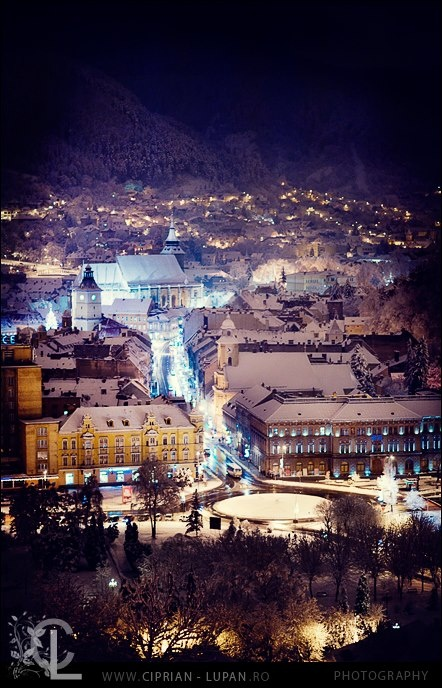 Brasov covered in snow, from the fortress :)