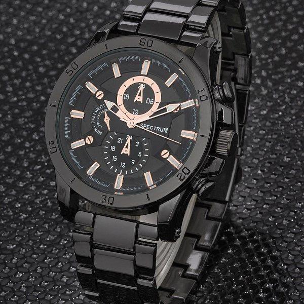 Spectrum Siyah Altın Yaldız Gösterge Erkek Kol Saati | buldumbuldum.com ile hediye et