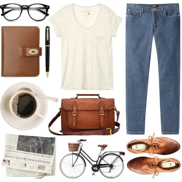 Untitled by hanaglatison on Polyvore featuring moda, rag & bone, A.P.C., H&M and Mulberry