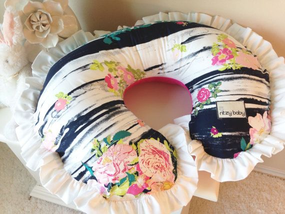 Lavish Flowerful Dandle and Hot Pink Nursing by RitzyBabyOriginal