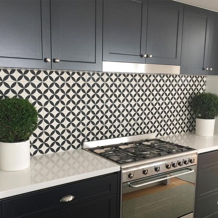 """STEVE CORDONY on Instagram: """"Splash back perfection. Obsessed with these cement tiles from @dilorenzo_tiles. #scloves #newwork #dilorenzotiles #installed"""""""