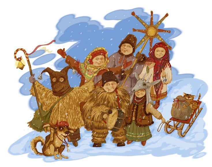 Просмотреть иллюстрацию Колядки. из сообщества русскоязычных художников автора Елена Железняк в стилях: Классика, нарисованная техниками: Другое.