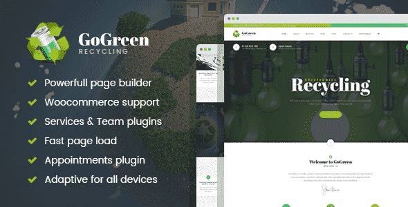 GoGreen – Waste Management and Recycling WordPress theme Free Download – #Download #Free #GoGreen #Management #Recycling