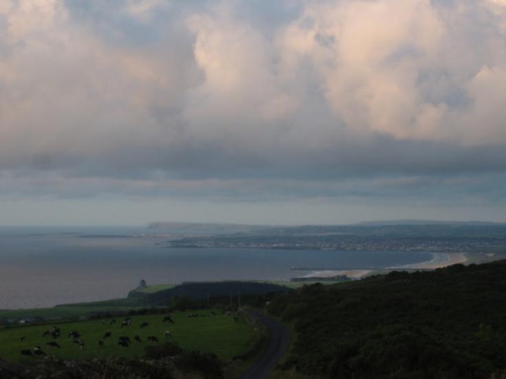 Looking over the northern irish coast