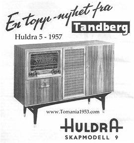 Tandberg Huldra 5 Radiocabinet Model 9