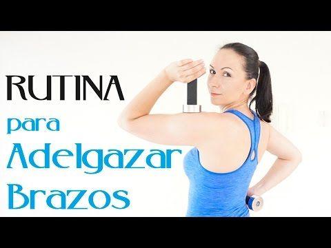 Como Adelgazar los Brazos y Gorditos en las Axilas RUTINA AERÓBICA + MANCUERNAS - YouTube
